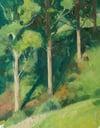 Spring Hillside with Eucalyptus