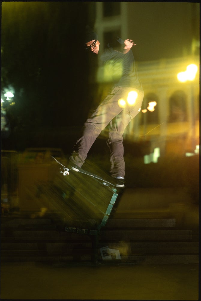Chris Pastras, Front board, Union Square SF 1993 by Tobin Yelland