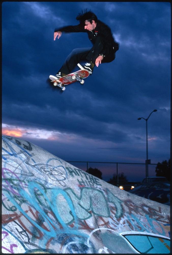 Ethan Fowler, back 180 floater ollie, Petaluma, 1997 by Tobin Yelland