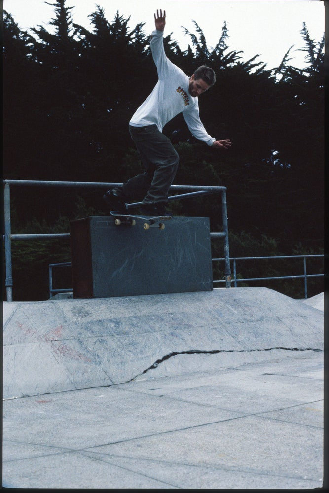 Julien Stranger, back tail, Fort Miley, SF 1997 by Tobin Yelland