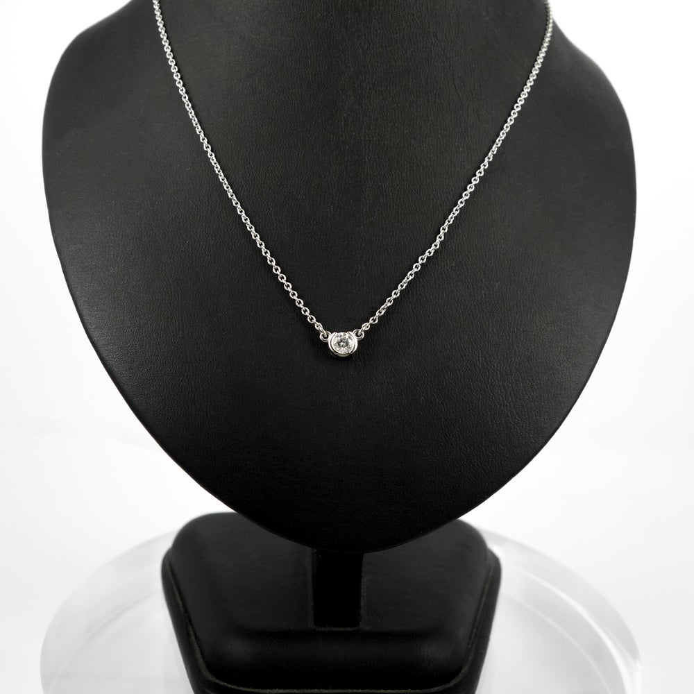 Image of PJ4938 14ct white gold diamond solitaire necklace