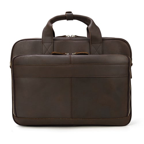 Image of Handmade Vintage Leather Mens Briefcase, Laptop Bag, Messenger Bag LF3319