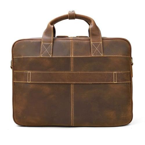 Image of Handmade Vintage Leather Mens Briefcase, Laptop Bag, Messenger Bag LF3319