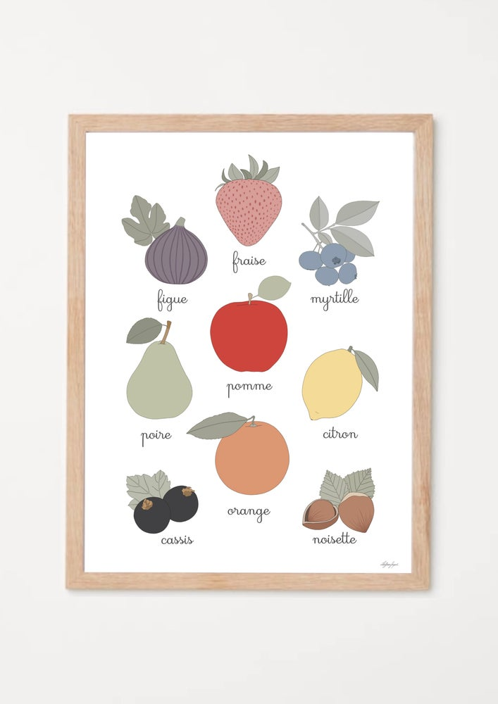 Image of Affiche imagier fruits et couleurs