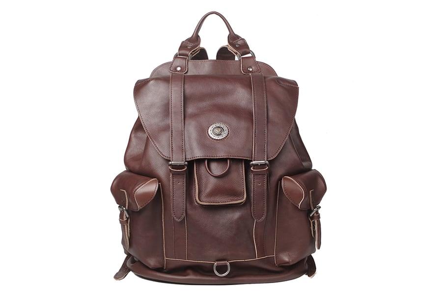 Image of Large Leather Backpack Handmade Vintage Men Travel Backpack  NP03