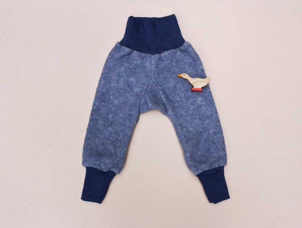 Image of Cosilana merino wool /cotton fleece pants  navy
