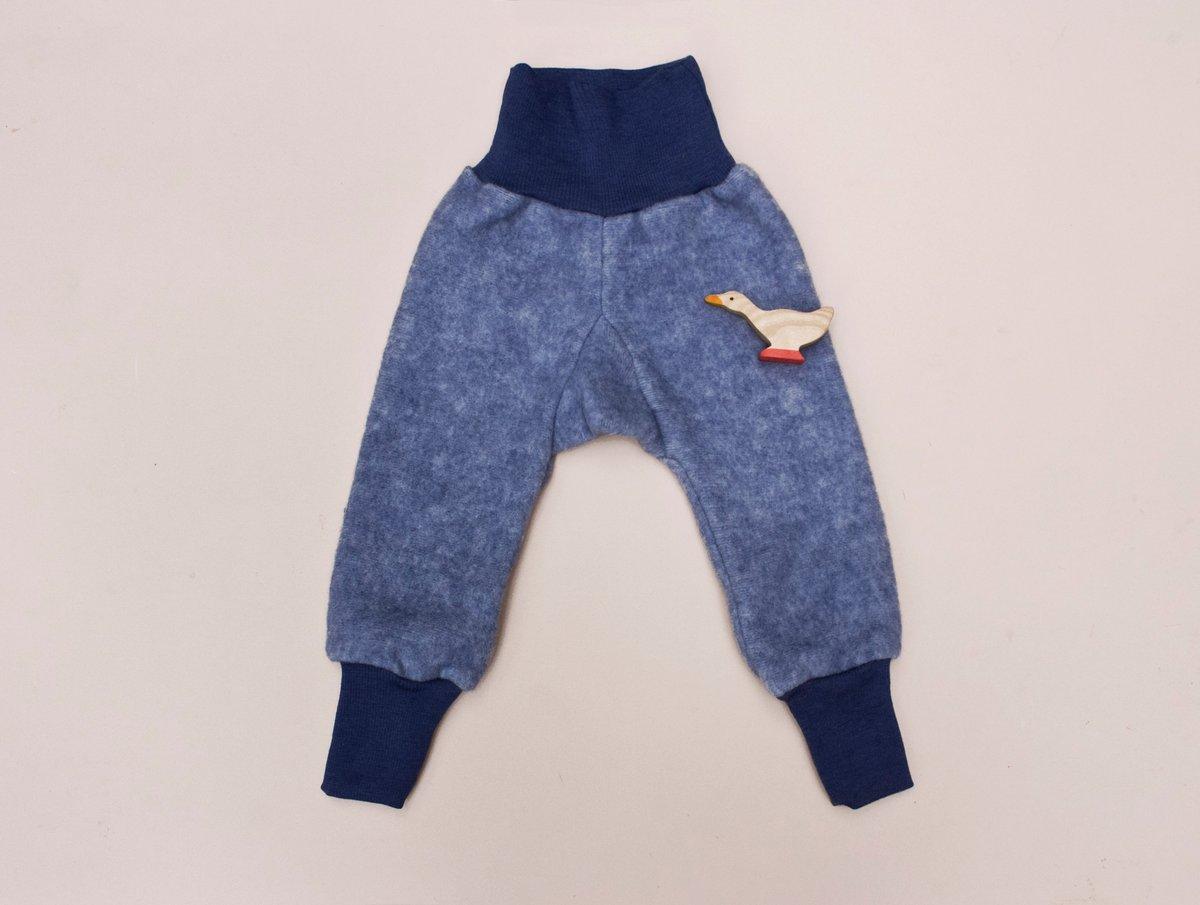 Image of Cosilana merino wool /cotton fleece pants  navy