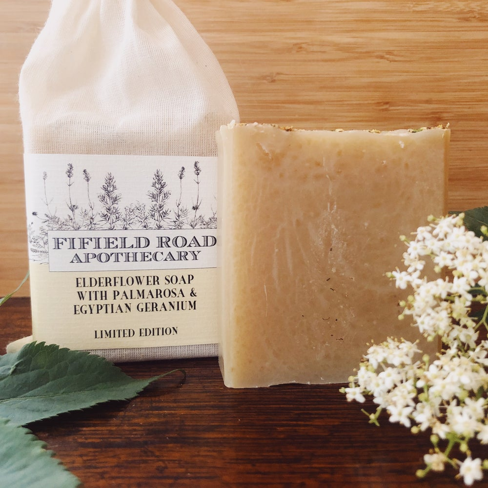 Image of LIMITED EDITION Elderflower Soap with Palmarosa and Egyptian Geranium
