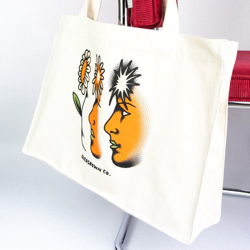 Image of 'MINDFUL LIVING' GROCERY/BEACH BAG