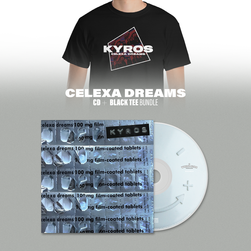 Image of Celexa Dreams CD and Black T-shirt Bundle