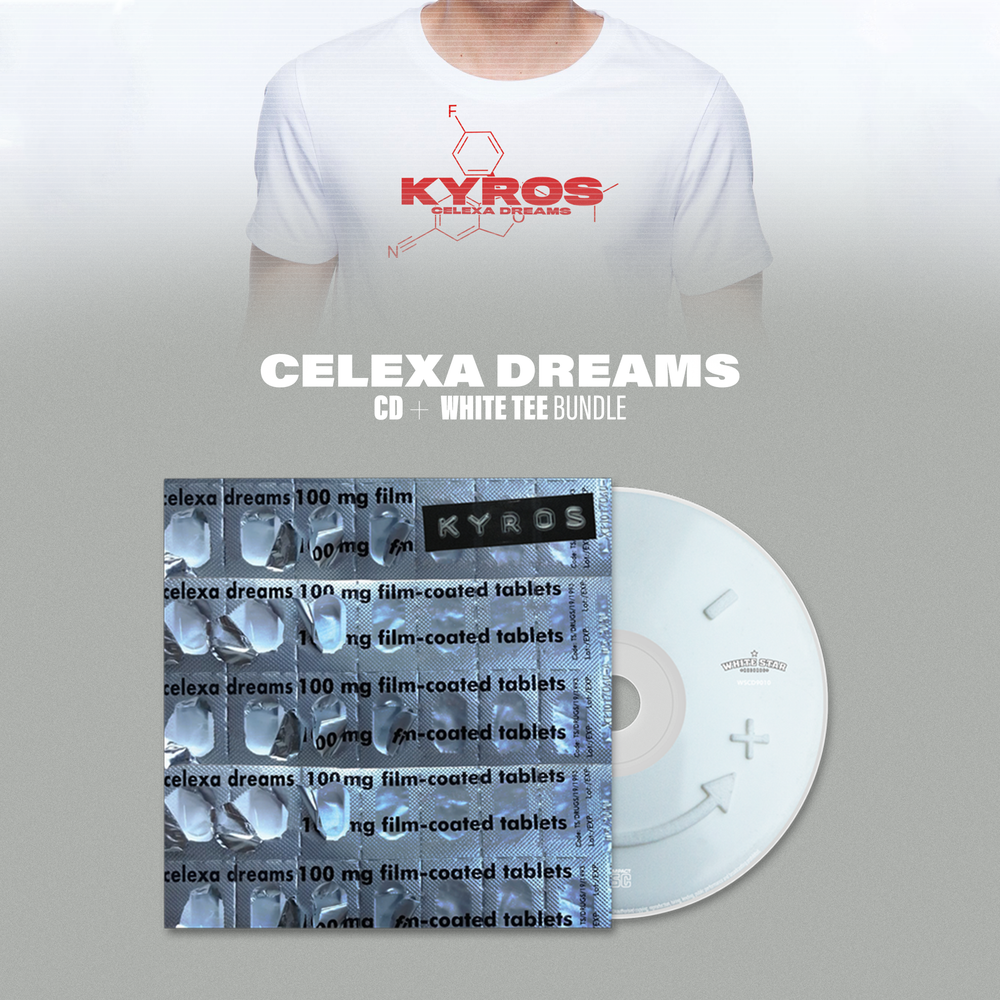 Image of Celexa Dreams CD and White T-shirt bundle