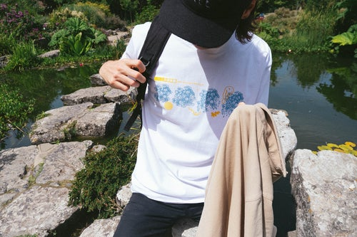 Image of 'GONE TOMORROW' TEE IN WHITE