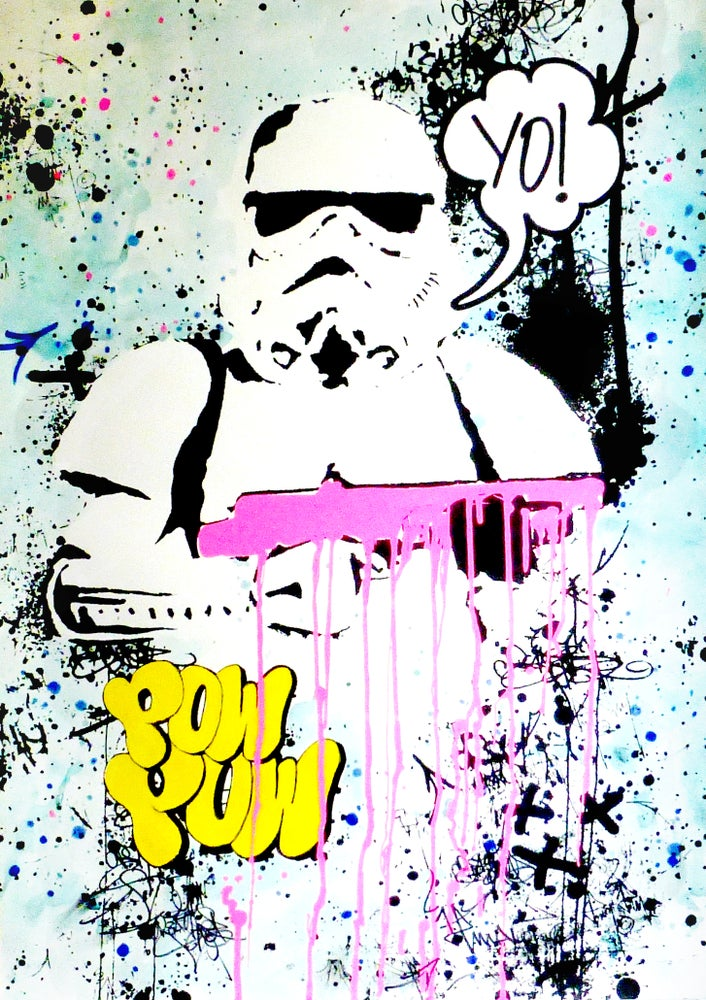 Image of YO! Star Wars Stormtrooper. (Pink edition hand painted, signed)