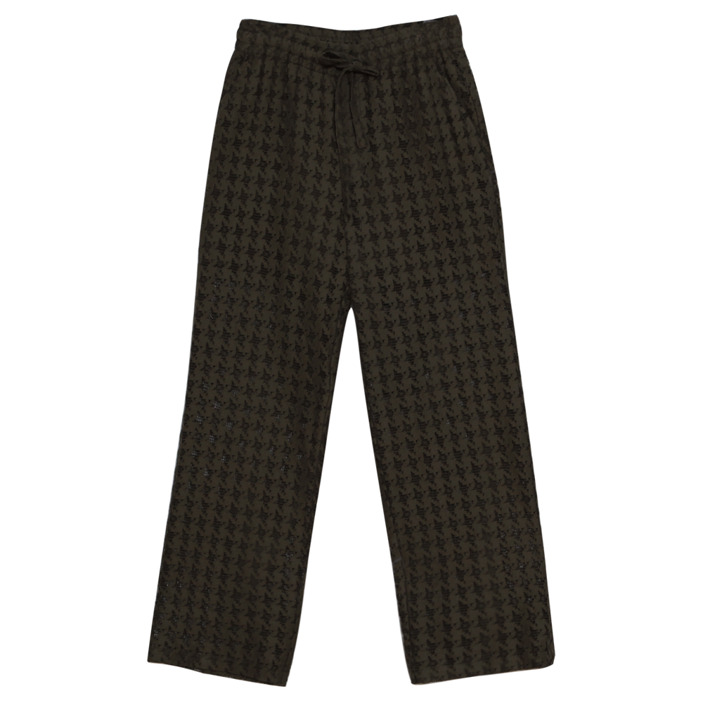 Image of KHAKI KNIT RELAX FIT PANTS