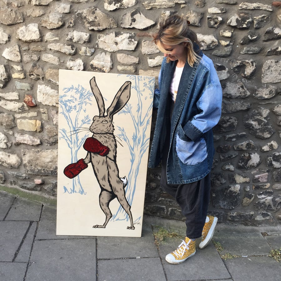 Image of Harey Boxer Original Painting