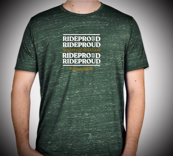 Image of  #RideProud EssentialAF T-Shirt - Green Marble