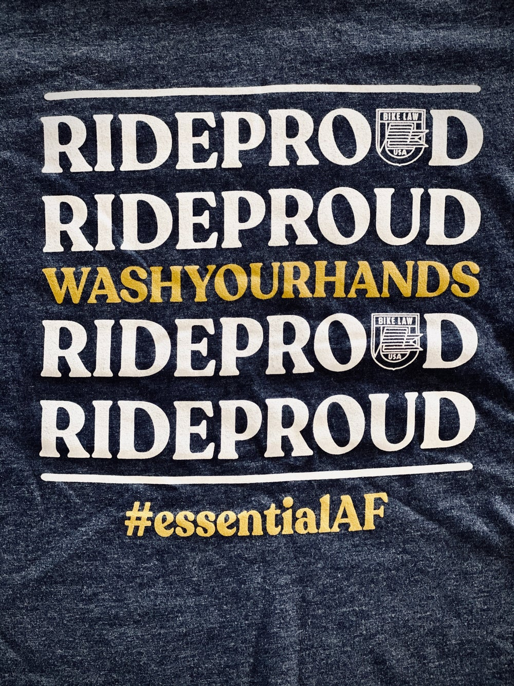 Image of #RideProud EssentialAF T-Shirt - Blue