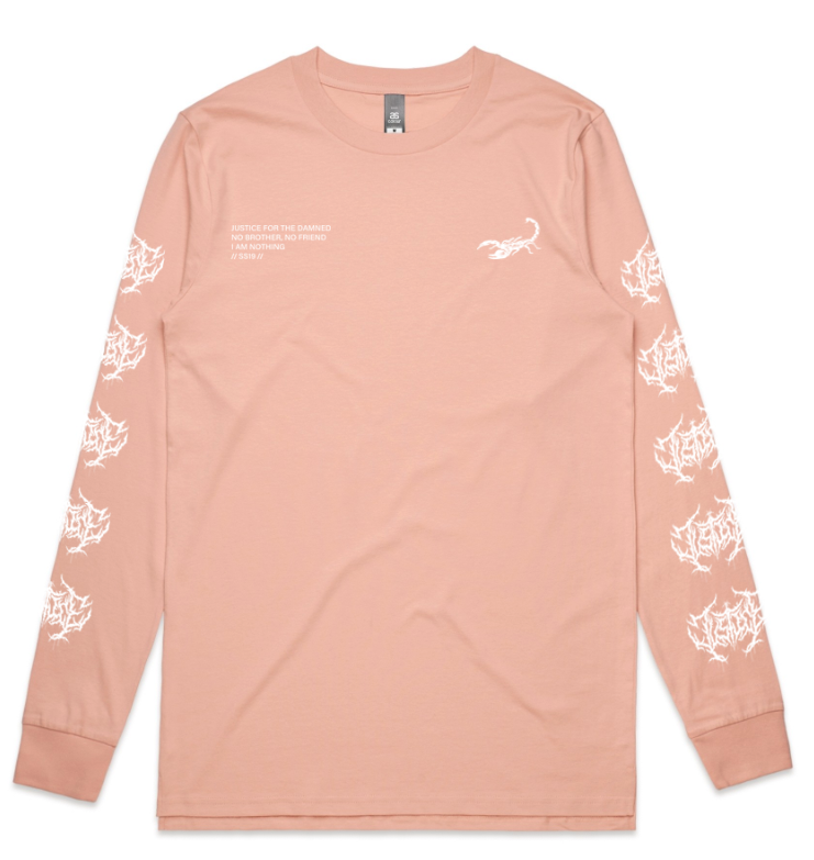 Image of No Brother No Friend Light Pink Longsleeve