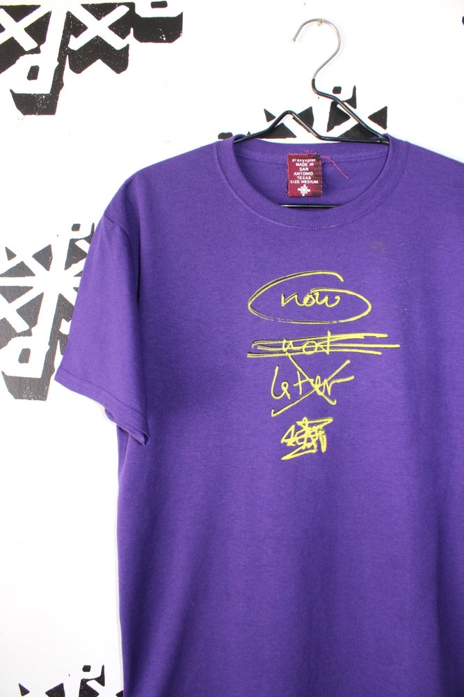Image of nownotlater tee in purple