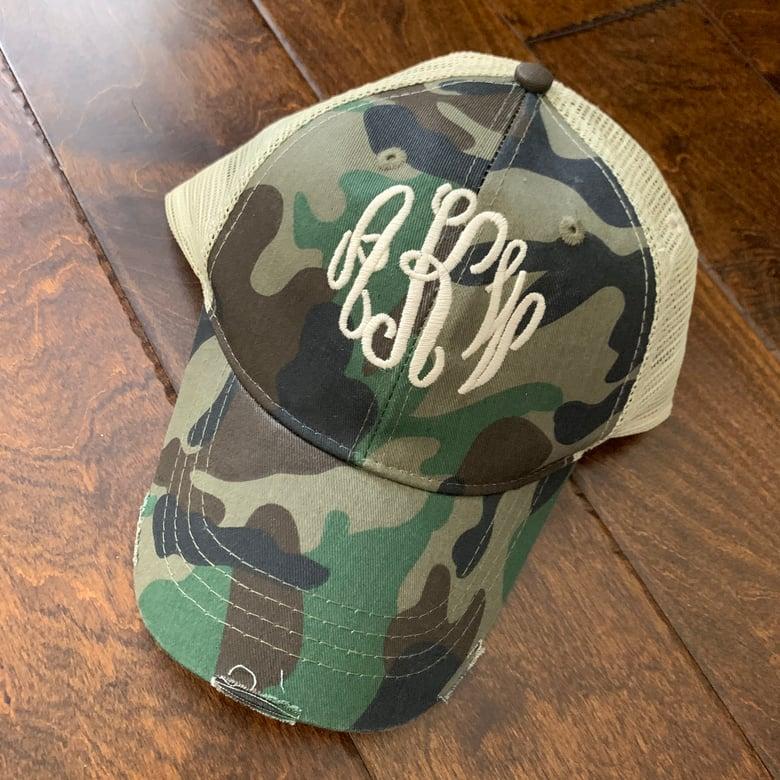 Image of Monogrammed CAMO Hat