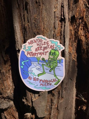 Image of Mental Miles Sticker