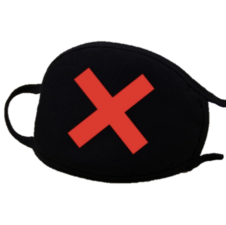 Image of Red X Cotton Face Masks