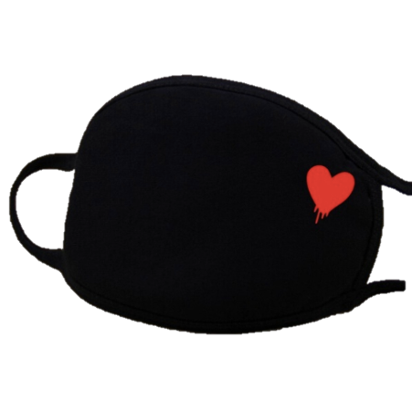 Image of Heart Fashion Face Mask