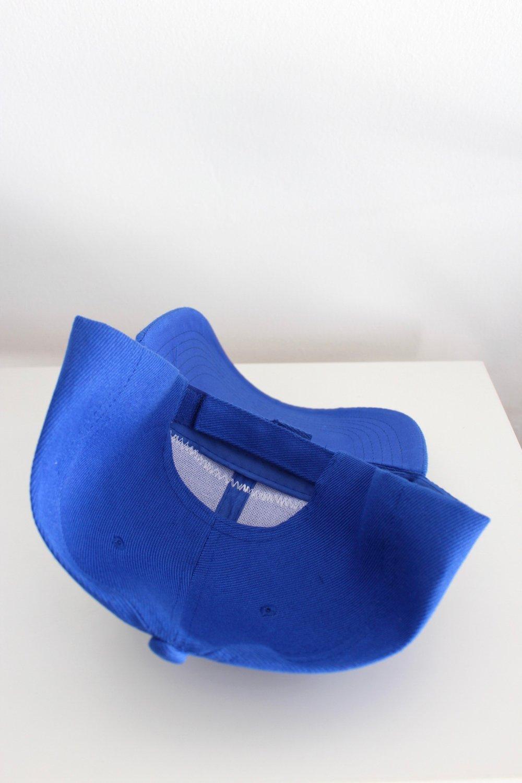 post up baseball cap in blue