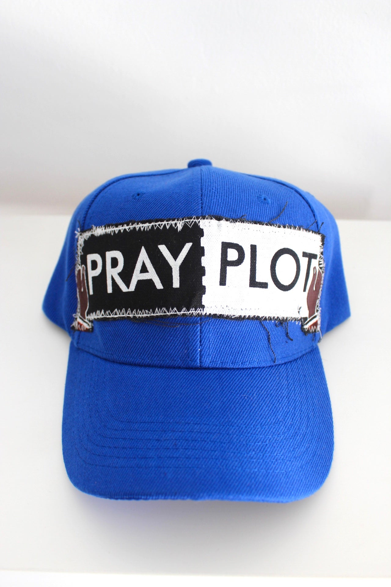 Image of post up baseball cap in blue