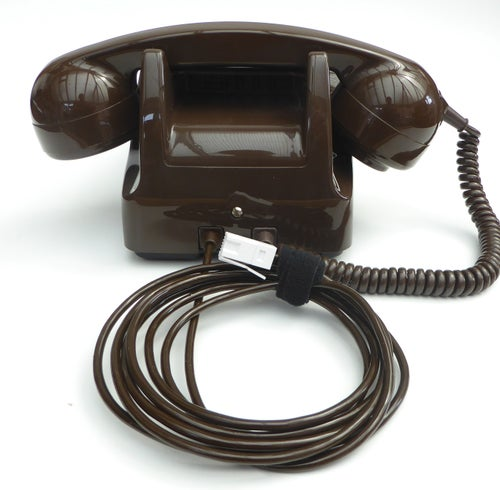 Image of GPO 746 Dial Telephone - Chocolate Brown