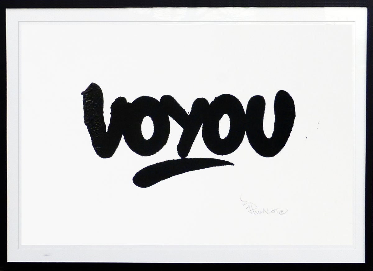 Image of ART VOYOU Mini screen print 30x20 cm. Signed.