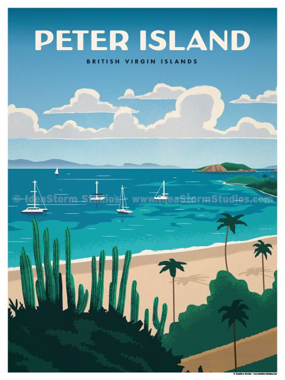 Image of Peter Island Poster