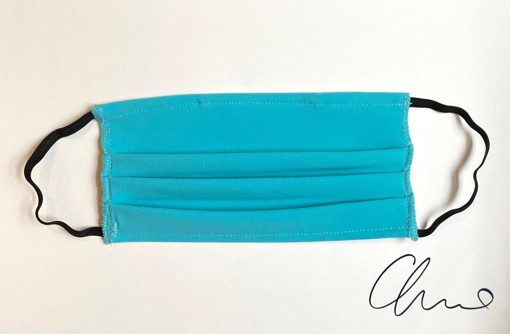 Image of Pleated Mask 3 Pack - Turquoise