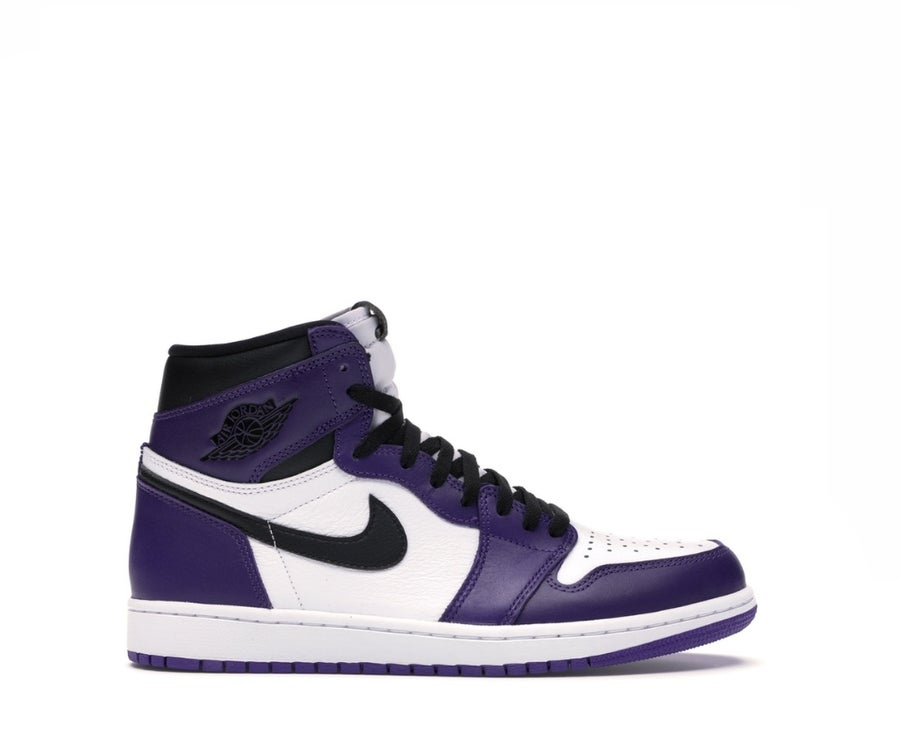 Image of NIKE AIR JORDAN 1 RETRO COURT PURTPLE WHITE 555088-500