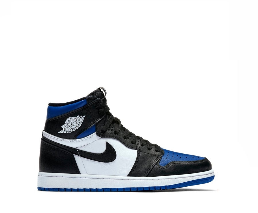 Image of NIKE AIR JORDAN 1 RETRO HIGH ROYAL TOE 555088-041