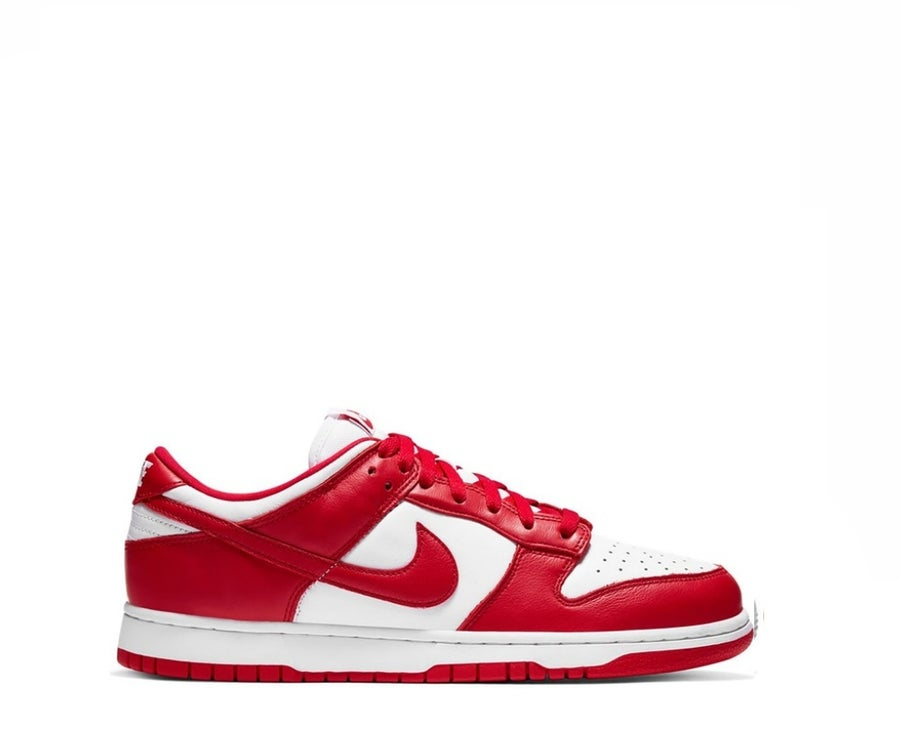 Image of NIKE DUNK LOW UNIVERSITY RED ST JOHN (2020) CU1727-100