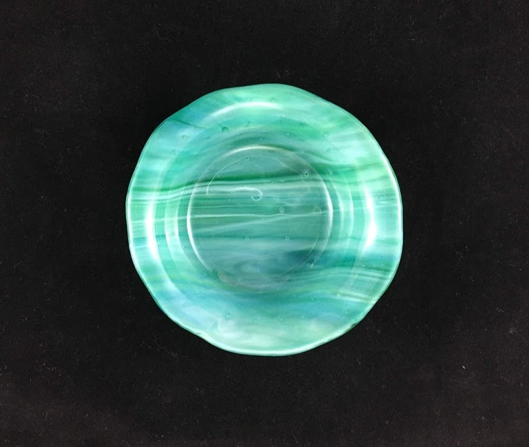 Image of Handmade Round Glass Dishes