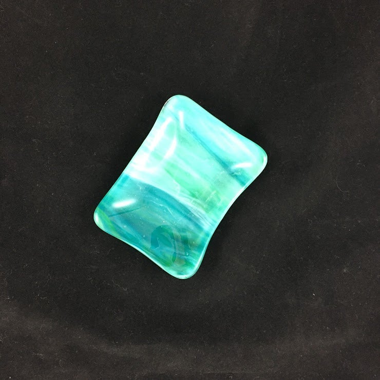 Image of Handmade Fused Glass Soap Dish