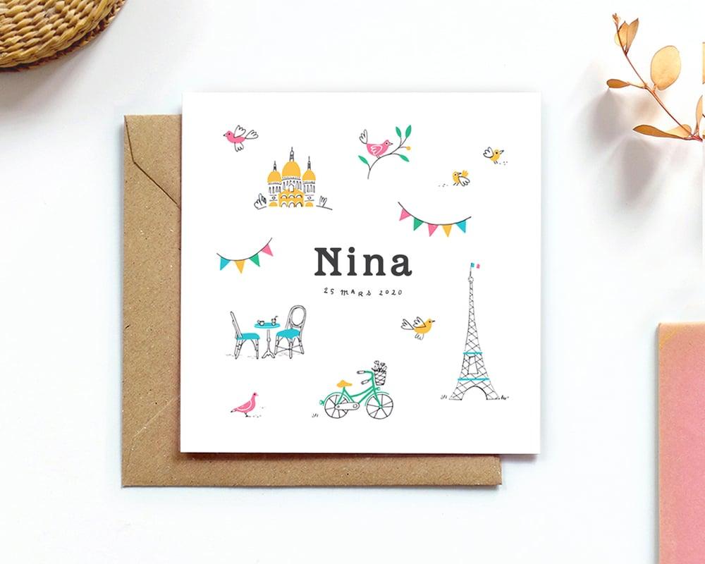 Image of Faire-part Naissance NINA
