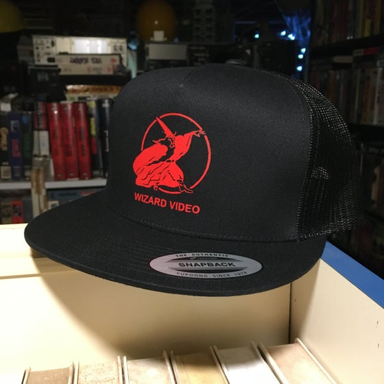 Image of Wizard Video Hat Unstructured SnapBack or Trucker Mesh
