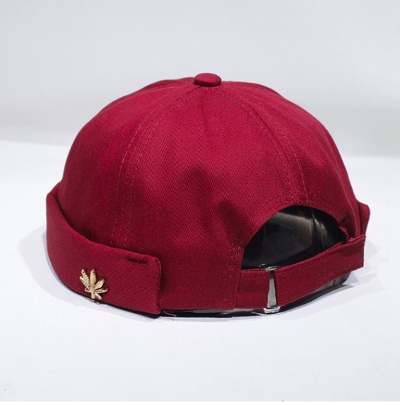 Image of Burgundy [no cap] hat by Micheal Oathes