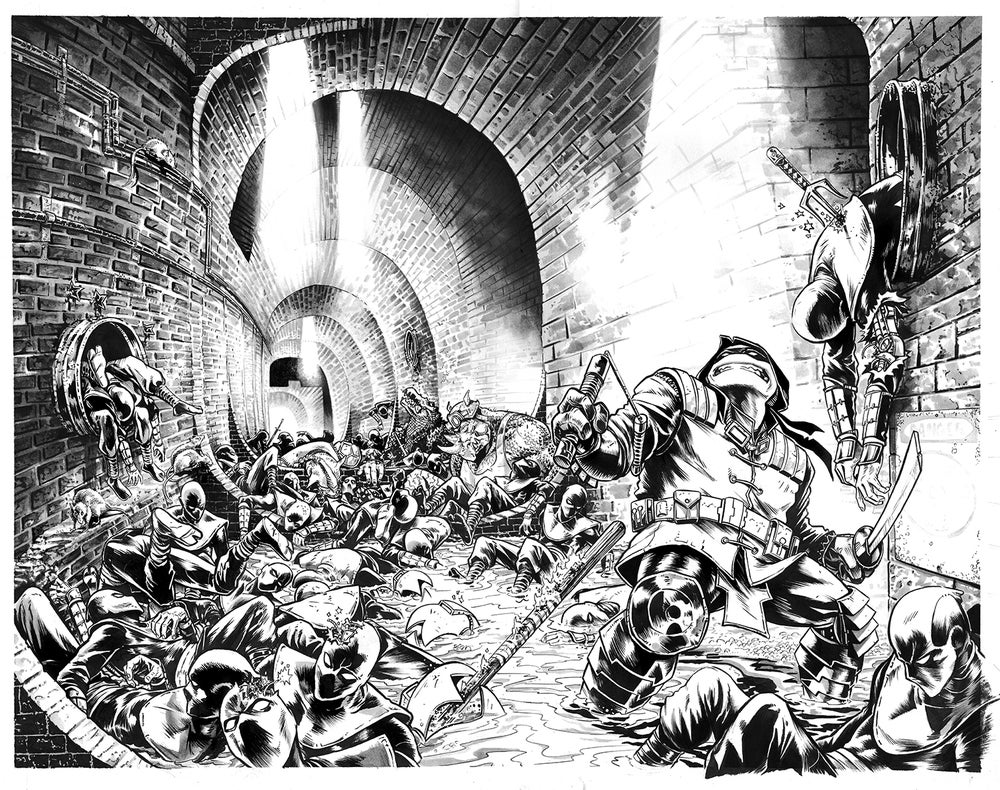 Tmnt The Last Ronin Original Wrap Around Cover Art Mike Rooth