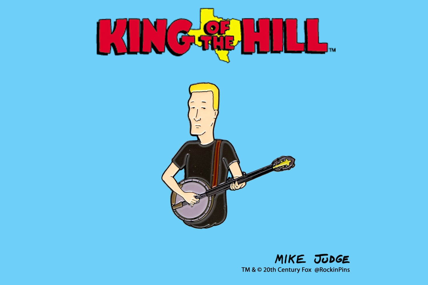 Image of King of the Hill - Boomhauer with Banjo Enamel Pin