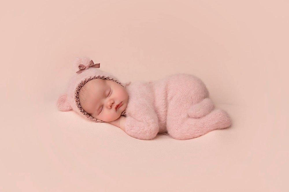 Image of Footed newborn rompers. Preorder