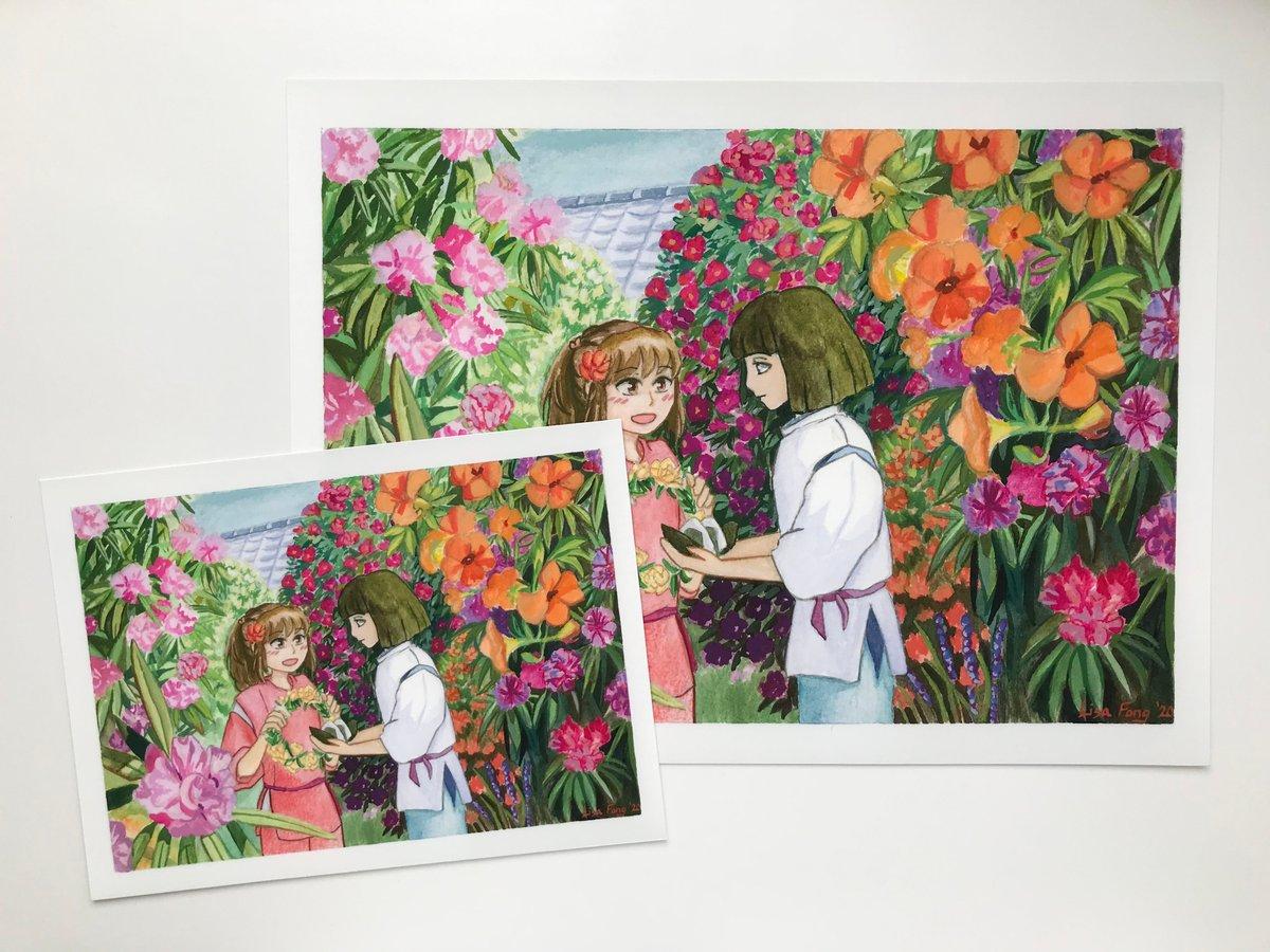 Spirited Away Floral Garden Print