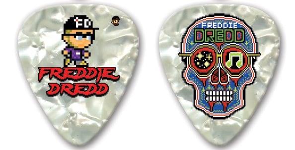 Image of Freddie Dredd (Limited Edition) Sugar Skull Double-Sided Guitar Pick