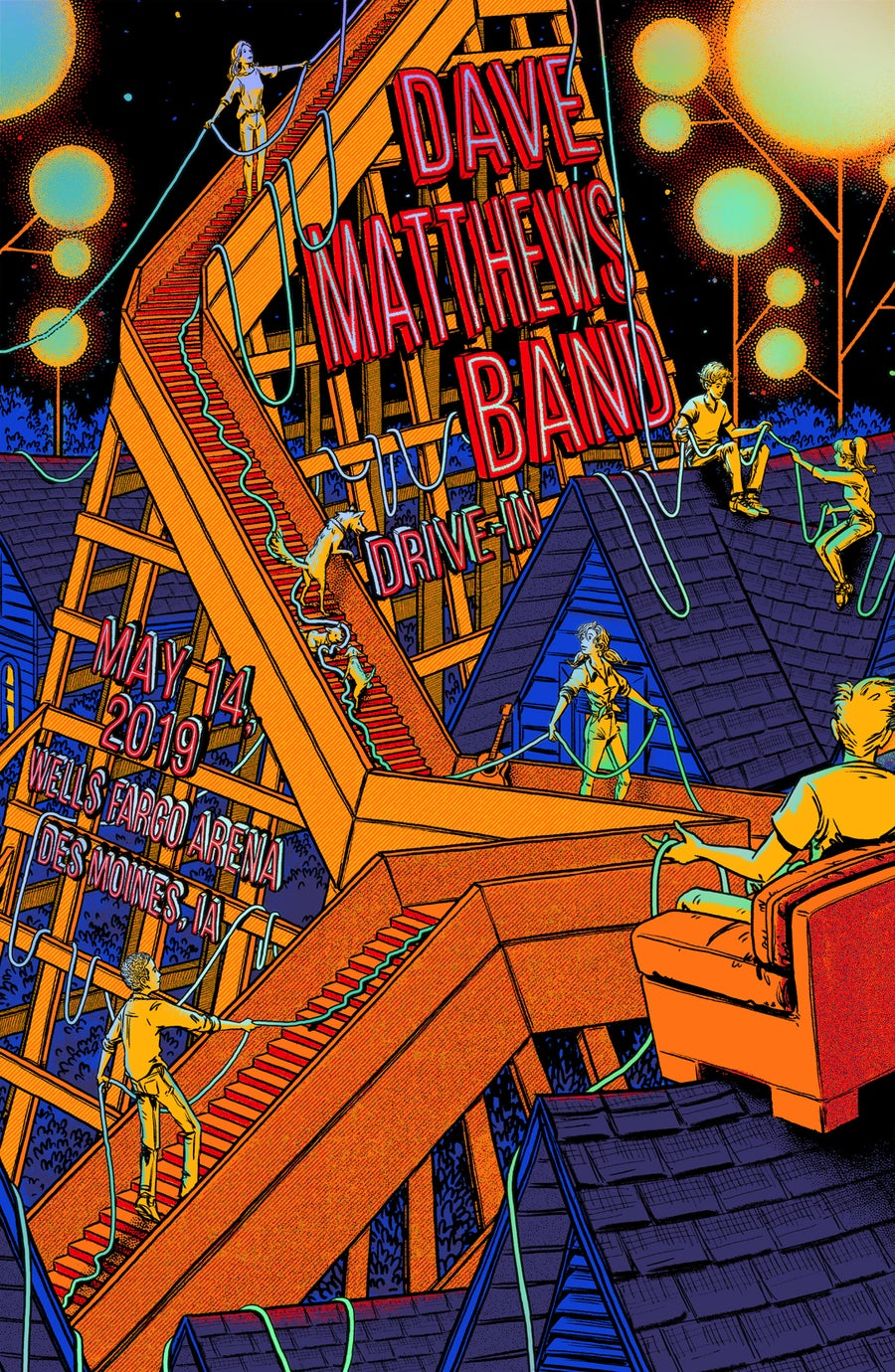 Image of Dave Matthews Band - Drive-In 2020 - Rainbow HoloFoil