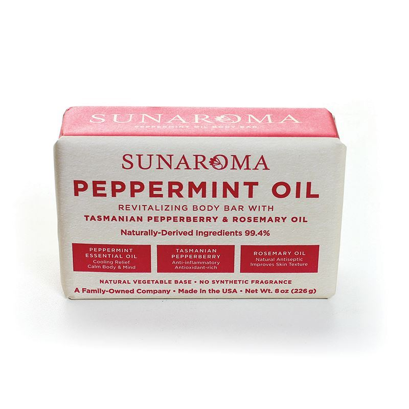 Image of YPeppermint oil soap-gently cleans pores, light tingling, calm aggravated skin, +