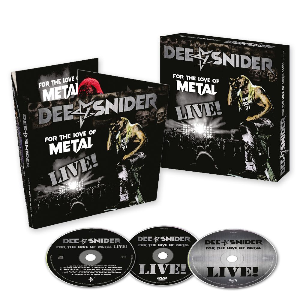 Image of DEE SNIDER - For The Love Of Metal - Live! - CD/DVD/BLU-RAY BOX SET