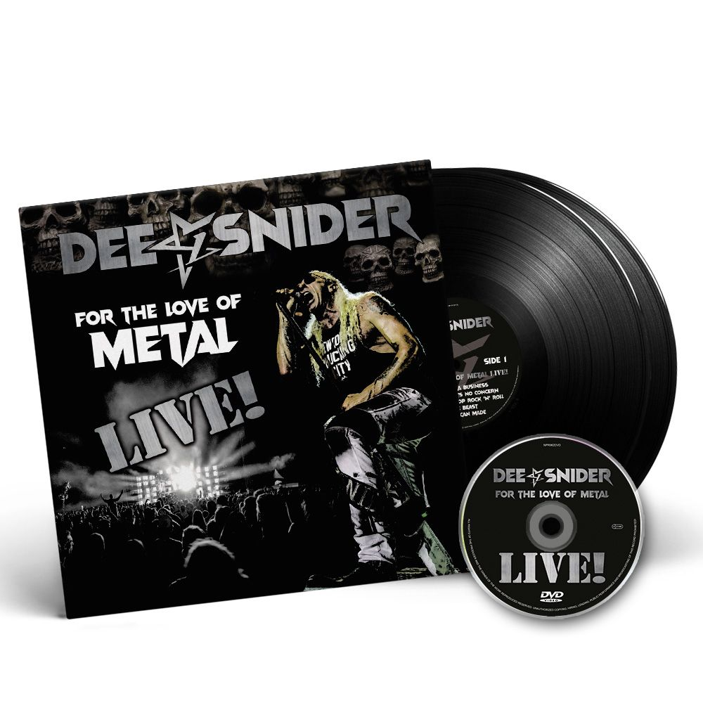 Image of DOUBLE GATEFOLD VINYL LP + DVD SET - Dee Snider 'For The Love Of Metal - Live!'